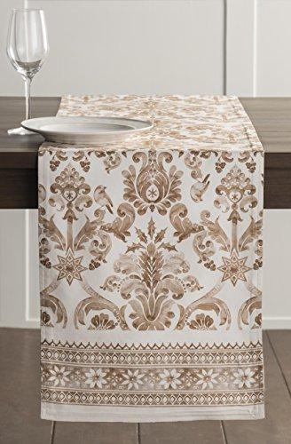 Maison d' Hermine Allure Tischläufer aus 100% Baumwolle für Partys | Abendessen | Feiertage | Küche | Thanksgiving/Weihnachten (50 cm x 150 cm) - 2