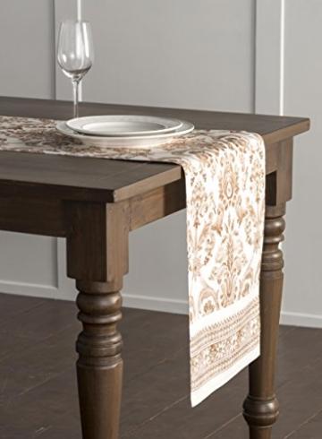 Maison d' Hermine Allure Tischläufer aus 100% Baumwolle für Partys | Abendessen | Feiertage | Küche | Thanksgiving/Weihnachten (50 cm x 150 cm) - 3