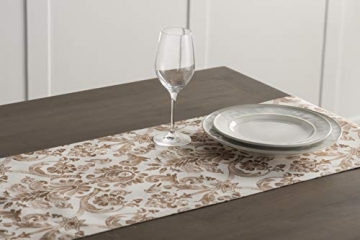 Maison d' Hermine Allure Tischläufer aus 100% Baumwolle für Partys | Abendessen | Feiertage | Küche | Thanksgiving/Weihnachten (50 cm x 150 cm) - 4