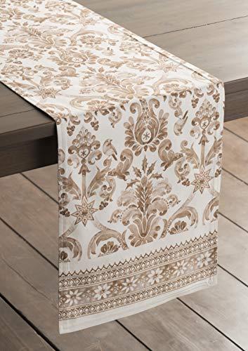 Maison d' Hermine Allure Tischläufer aus 100% Baumwolle für Partys | Abendessen | Feiertage | Küche | Thanksgiving/Weihnachten (50 cm x 150 cm) - 5
