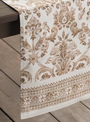 Maison d' Hermine Allure Tischläufer aus 100% Baumwolle für Partys | Abendessen | Feiertage | Küche | Thanksgiving/Weihnachten (50 cm x 150 cm) - 7