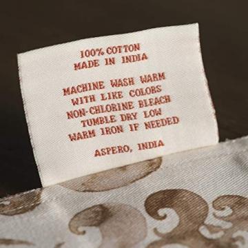 Maison d' Hermine Allure Tischläufer aus 100% Baumwolle für Partys | Abendessen | Feiertage | Küche | Thanksgiving/Weihnachten (50 cm x 150 cm) - 8