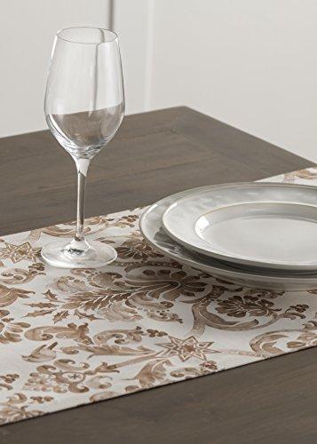 Maison d' Hermine Allure Tischläufer aus 100% Baumwolle für Partys | Abendessen | Feiertage | Küche | Thanksgiving/Weihnachten (50 cm x 150 cm) - 9