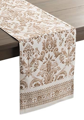Maison d' Hermine Allure Tischläufer aus 100% Baumwolle für Partys | Abendessen | Feiertage | Küche | Thanksgiving/Weihnachten (50 cm x 150 cm) - 1