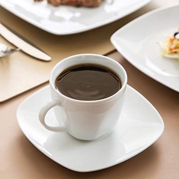 MALACASA, Serie Julia, KLEIN Tafelservice 60-TLG Kombiservice Kaffeeservice Porzellan Geschirrset mit Kaffeetassen, Untertassen, Dessertteller, Suppenteller, Speiseteller für 12 Personen je 12 Stück - 6