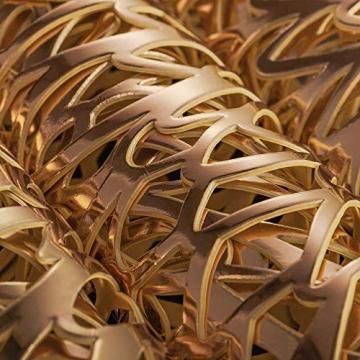 Mangata Gold platzsets und untersetzer Rund, Gold Tischsets Rund für Weihnachten, Bankett, Geburtstag, Hochzeit, (4-er Set), Abwischbar, 38 cm - 5