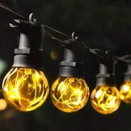 MYCARBON LED Lichterkette Außen 13,5M IP67 36er Birnen wasserdicht Lichterkette Glühbirnen Outdoor Innen mit Stecker Deko für Garten Party Terrasse Zimmer Balkon 2 Ersatzbirnen Warmweiß - 1