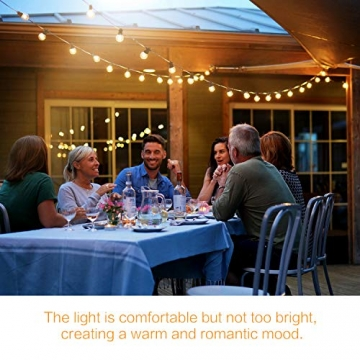 MYCARBON LED Lichterkette Außen 13,5M IP67 36er Birnen wasserdicht Lichterkette Glühbirnen Outdoor Innen mit Stecker Deko für Garten Party Terrasse Zimmer Balkon 2 Ersatzbirnen Warmweiß - 5
