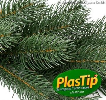 Original Hallerts® Spritzguss Weihnachtsbaum Alnwick 120 cm als Nordmanntanne - Christbaum zu 100% in Spritzguss PlasTip® Qualität - schwer entflammbar nach B1 Norm, Material TÜV und SGS geprüft - Premium Spritzgusstanne - 4
