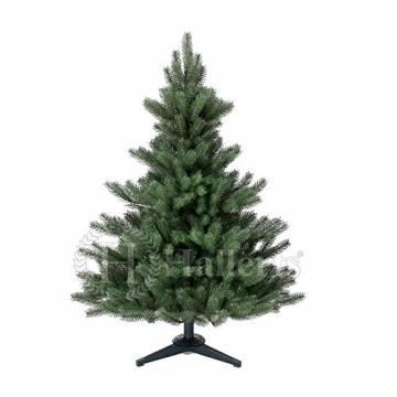 Original Hallerts® Spritzguss Weihnachtsbaum Alnwick 120 cm als Nordmanntanne - Christbaum zu 100% in Spritzguss PlasTip® Qualität - schwer entflammbar nach B1 Norm, Material TÜV und SGS geprüft - Premium Spritzgusstanne - 1
