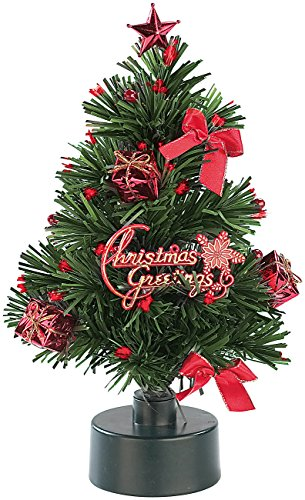 PEARL Mini Weihnachtsbaum: LED-Weihnachtsbaum mit Glasfaser-Farbwechsler (LED Weihnachtsbaum klein) - 3