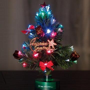 PEARL Mini Weihnachtsbaum: LED-Weihnachtsbaum mit Glasfaser-Farbwechsler (LED Weihnachtsbaum klein) - 4