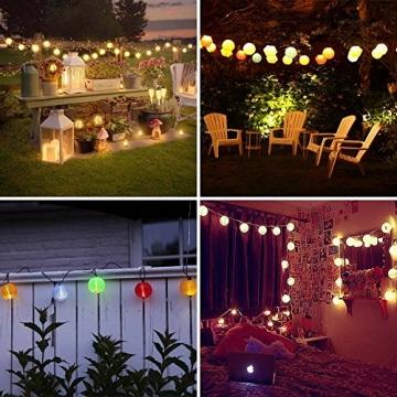 Qedertek Solar Lichterkette Lampion Außen 6 Meter 30 LED Laternen 2 Modi Wasserdicht Solar Beleuchtung für Garten, Hof, Hochzeit, Fest Deko (Warmweiß) - 4