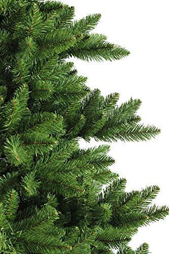 RS Trade 19001 Weihnachtsbaum künstlich 210 cm (Ø ca.146 cm) mit 1910 Spitzen und Schnellaufbau Klapp-Schirmsystem, schwer entflammbar, unechter Tannenbaum inkl. Metall Christbaum Ständer - 3