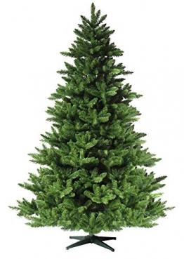 RS Trade 19001 Weihnachtsbaum künstlich 210 cm (Ø ca.146 cm) mit 1910 Spitzen und Schnellaufbau Klapp-Schirmsystem, schwer entflammbar, unechter Tannenbaum inkl. Metall Christbaum Ständer - 1