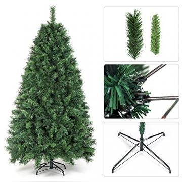 SALCAR Weihnachtsbaum künstlich 180cm mit 580 Spitzen, Tannenbaum künstlich Schnellaufbau inkl. Christbaum-Ständer, Weihnachtsdeko - grün 1,8m - 4