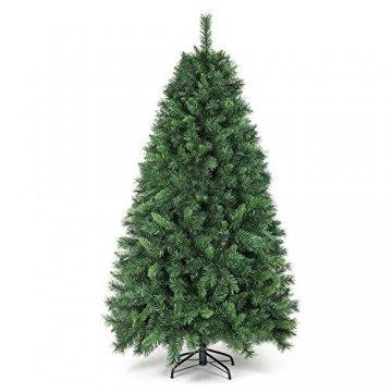 SALCAR Weihnachtsbaum künstlich 180cm mit 580 Spitzen, Tannenbaum künstlich Schnellaufbau inkl. Christbaum-Ständer, Weihnachtsdeko - grün 1,8m - 1