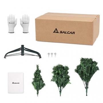 SALCAR Weihnachtsbaum künstlich 180cm mit 580 Spitzen, Tannenbaum künstlich Schnellaufbau inkl. Christbaum-Ständer, Weihnachtsdeko - grün 1,8m - 7