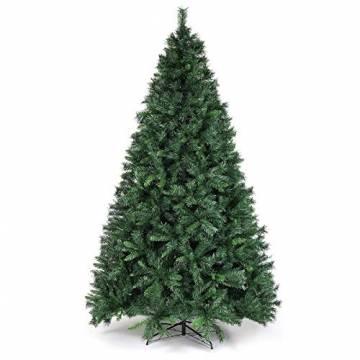SALCAR Weihnachtsbaum künstlich 270cm mit 1468 Spitzen, Tannenbaum künstlich Schnellaufbau inkl. Christbaum-Ständer, Weihnachtsdeko - grün 2,7m - 1