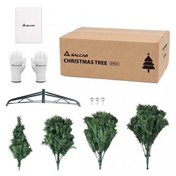 SALCAR Weihnachtsbaum künstlich 270cm mit 1468 Spitzen, Tannenbaum künstlich Schnellaufbau inkl. Christbaum-Ständer, Weihnachtsdeko - grün 2,7m - 7
