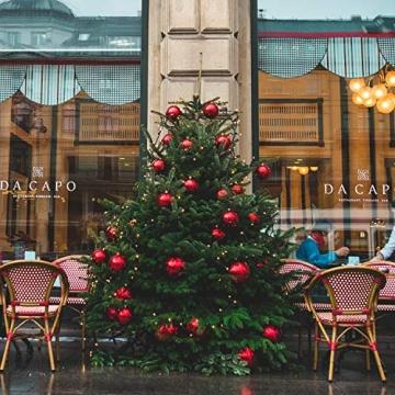 SALCAR Weihnachtskugeln Set Rot,Christbaumkugeln Plastik Bruchsicher mit Kunststoff Weihnachtsbaumkugeln Box, Weihnachtsbaum Deko & Christbaumschmuck-100 Stück - 6