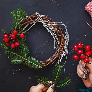 Sntieecr 8 Stück 2 Größen Weinreben Kränze Naturkranz DIY Kranz Deko für Weihnachten Türkranz Holz Dekoration Ornament Tor Wand Party Hochzeit (8, 12 cm) - 4