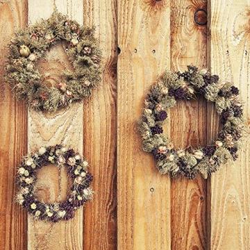 Sntieecr 8 Stück 2 Größen Weinreben Kränze Naturkranz DIY Kranz Deko für Weihnachten Türkranz Holz Dekoration Ornament Tor Wand Party Hochzeit (8, 12 cm) - 6