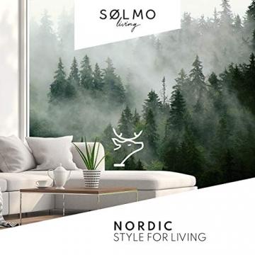 sølmo I Design Tischläufer aus Filz I 150x40cm Tischband I Abwaschbar mit Leder Label, Skandinavischer Tisch Filzläufer Frühjahr & Frühling (Rot) - 7