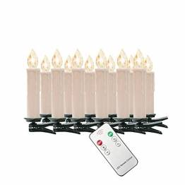 SZYSD 20Stk LED Weihnachtskerzen Kerzen Lichterkette Kabellos Christbaum Baumkerzen Warmweiß - 1
