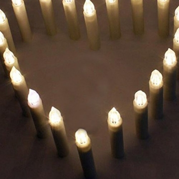 SZYSD 20Stk LED Weihnachtskerzen Kerzen Lichterkette Kabellos Christbaum Baumkerzen Warmweiß - 6