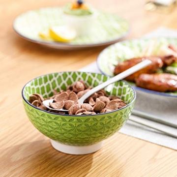Tafelservice porzellan, vancasso Tafelservice bunt, MACARON 48 teilig Geschirrset , mit je 12 Speiseteller, Dessertteller, Müslischalen und Kaffeebecher für 12 Personen - 4