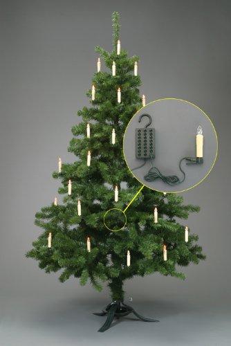 Trango TG340146 24x LED Weihnachtskerzen mit Stecksystem Innenbereich weiß leuchtend - 3