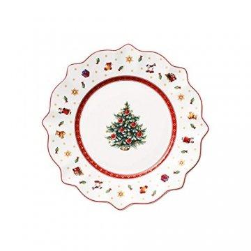 Villeroy und Boch Toy's Delight Frühstücksteller, 24 cm, Premium Porzellan, Weiß/Rot - 1