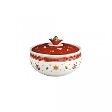 Villeroy und Boch Toy's Delight Zuckerdose, Premium Porzellan, Weiß/Rot - 1