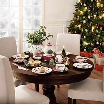 Villeroy und Boch Toy's Delight Zuckerdose, Premium Porzellan, Weiß/Rot - 2
