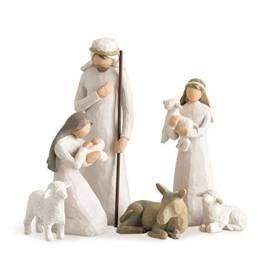 Willow Tree 26005 Figur Weihnachtsartikel Heilige Familie, Holz, Natur, 5,1 x 7,6 x 24,1 cm - 1