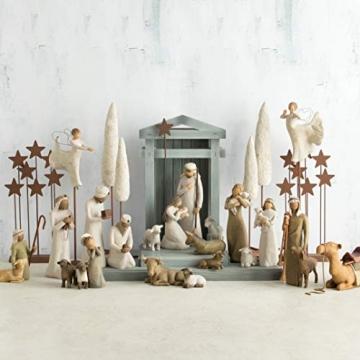 Willow Tree 26005 Figur Weihnachtsartikel Heilige Familie, Holz, Natur, 5,1 x 7,6 x 24,1 cm - 4