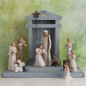 Willow Tree 26005 Figur Weihnachtsartikel Heilige Familie, Holz, Natur, 5,1 x 7,6 x 24,1 cm - 6