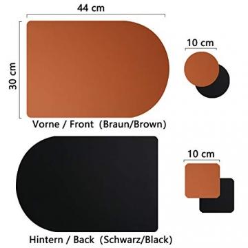 X SIM FITNESSX 2 Farbe per Tischset PVC Leder Platzset abwaschbar Platzdeckchen Wasserdicht Abwischbare 4 Tischset+8 Glasuntersetzer für Hause Küche Restaurant Hotel Hochzeit Weihnachten - 2