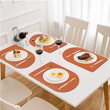 X SIM FITNESSX 2 Farbe per Tischset PVC Leder Platzset abwaschbar Platzdeckchen Wasserdicht Abwischbare 4 Tischset+8 Glasuntersetzer für Hause Küche Restaurant Hotel Hochzeit Weihnachten - 7