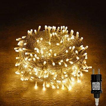 100/200/300/400er Led Lichterkette Strombetrieben mit Stecker Außen und Innen für Garten Hochzeit Weihnachten Party Warmweiß Gresonic (Warmweiss, 200LED) - 1