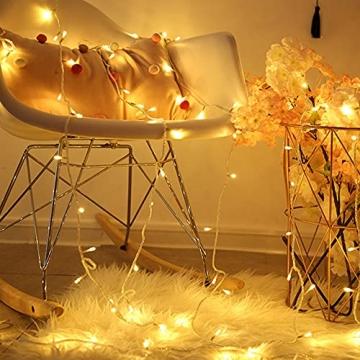 100/200/300/400er Led Lichterkette Strombetrieben mit Stecker Außen und Innen für Garten Hochzeit Weihnachten Party Warmweiß Gresonic (Warmweiss, 200LED) - 6