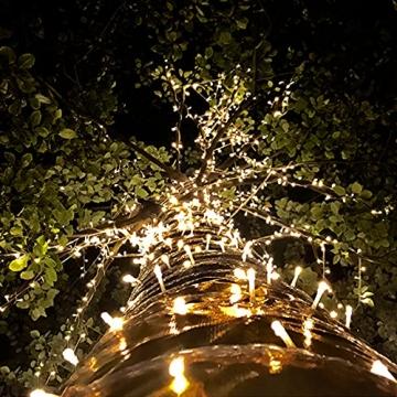 100/200/300/400er Led Lichterkette Strombetrieben mit Stecker Außen und Innen für Garten Hochzeit Weihnachten Party Warmweiß Gresonic (Warmweiss, 200LED) - 7