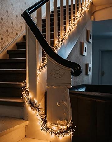 11m LED Lichterkette außen Weihnachten Extra Warmweiß Cluster Lichterkette Weihnachtsbaum Büschellichterkette innen Strombetrieben Tannenbaum Christbaum Weihnachtslichterkette außen - 4