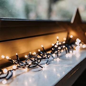 11m LED Lichterkette außen Weihnachten Extra Warmweiß Cluster Lichterkette Weihnachtsbaum Büschellichterkette innen Strombetrieben Tannenbaum Christbaum Weihnachtslichterkette außen - 5