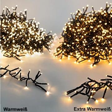 11m LED Lichterkette außen Weihnachten Extra Warmweiß Cluster Lichterkette Weihnachtsbaum Büschellichterkette innen Strombetrieben Tannenbaum Christbaum Weihnachtslichterkette außen - 6