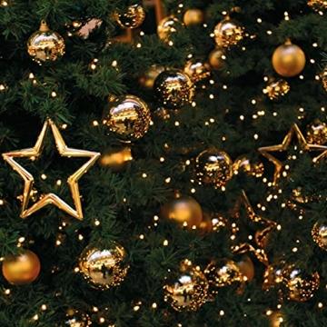 11m LED Lichterkette außen Weihnachten Extra Warmweiß Cluster Lichterkette Weihnachtsbaum Büschellichterkette innen Strombetrieben Tannenbaum Christbaum Weihnachtslichterkette außen - 8