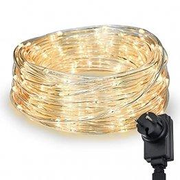 200 LED Schlauch Außen – Lichterschlauch Aussen 10m warmweiß mit Timer   Lichterkette Weihnachtsbeleuchtung wasserdicht   LED Lichtschlauch Außen 10m & Innen   Lichtschläuche Outdoor Leuchtschlauch - 1