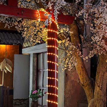 200 LED Schlauch Außen – Lichterschlauch Aussen 10m warmweiß mit Timer | Lichterkette Weihnachtsbeleuchtung wasserdicht | LED Lichtschlauch Außen 10m & Innen | Lichtschläuche Outdoor Leuchtschlauch - 6
