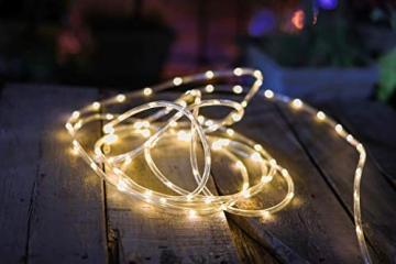 200 LED Schlauch Außen – Lichterschlauch Aussen 10m warmweiß mit Timer | Lichterkette Weihnachtsbeleuchtung wasserdicht | LED Lichtschlauch Außen 10m & Innen | Lichtschläuche Outdoor Leuchtschlauch - 7